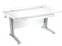 Stôl rastúci rovný │ biela štandard / biela štandard