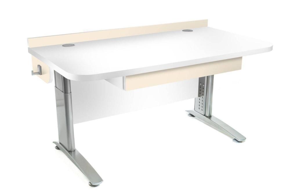 Stôl rastúci rovný │ biela štandard / béžová (crema)