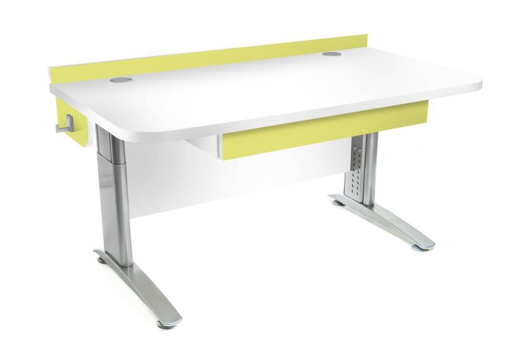 Stôl rastúci rovný │ biela štandard / zelené jablko