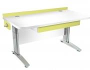 Stôl rastúci rovný │ biela štandard / zelené ...