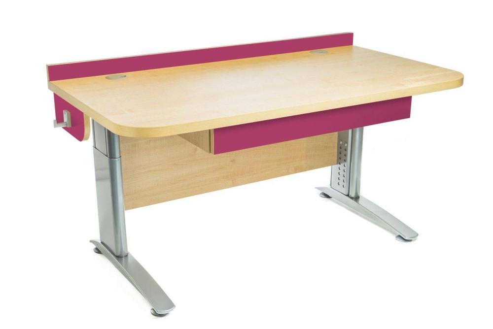 Stôl rastúci rovný │ javor prírodný / ružová malina