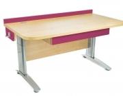 Stôl rastúci rovný │ javor prírodný / ružová ...