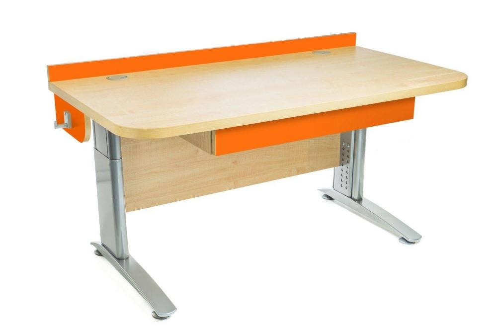 Stôl rastúci rovný │ javor prírodný / oranžová