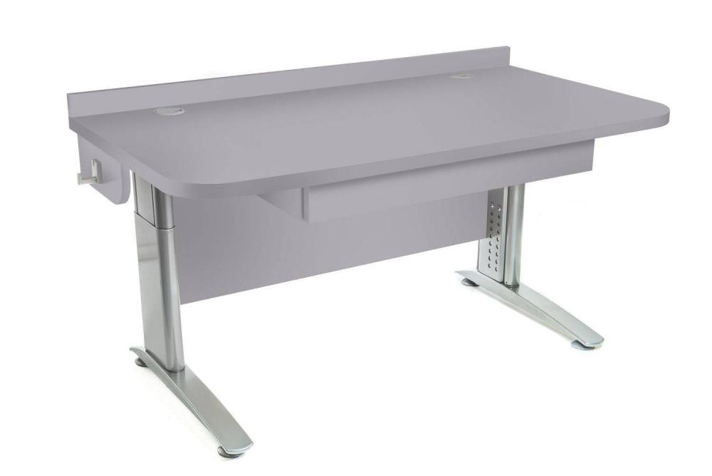 Stôl rastúci rovný │ šedá perlička / šedá perlička