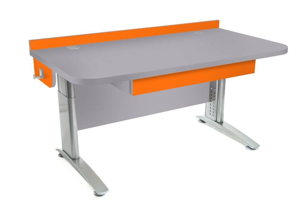 Stôl rastúci rovný │ šedá perlička / oranžová
