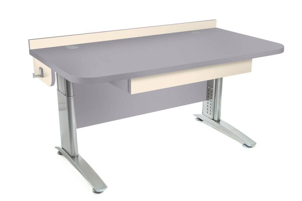 Stôl rastúci rovný │ šedá perlička / béžová (crema)