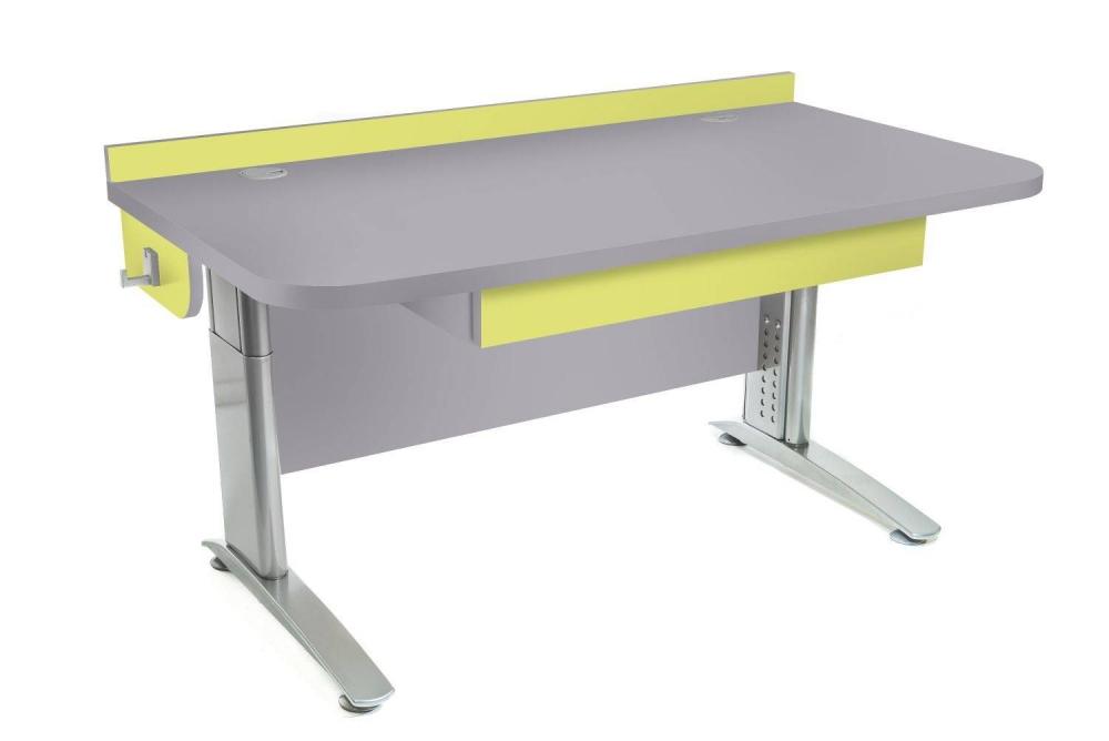 Stôl rastúci rovný │ šedá perlička / zelené jablko