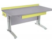 Stôl rastúci rovný │ šedá perlička / zelené ...