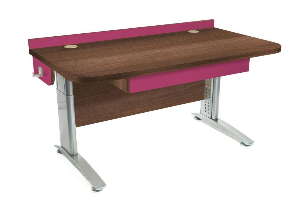 Stôl rastúci rovný │ orech Aida tabakový / ružová malina