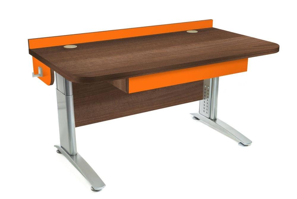 Stôl rastúci rovný │ orech Aida tabakový / oranžová