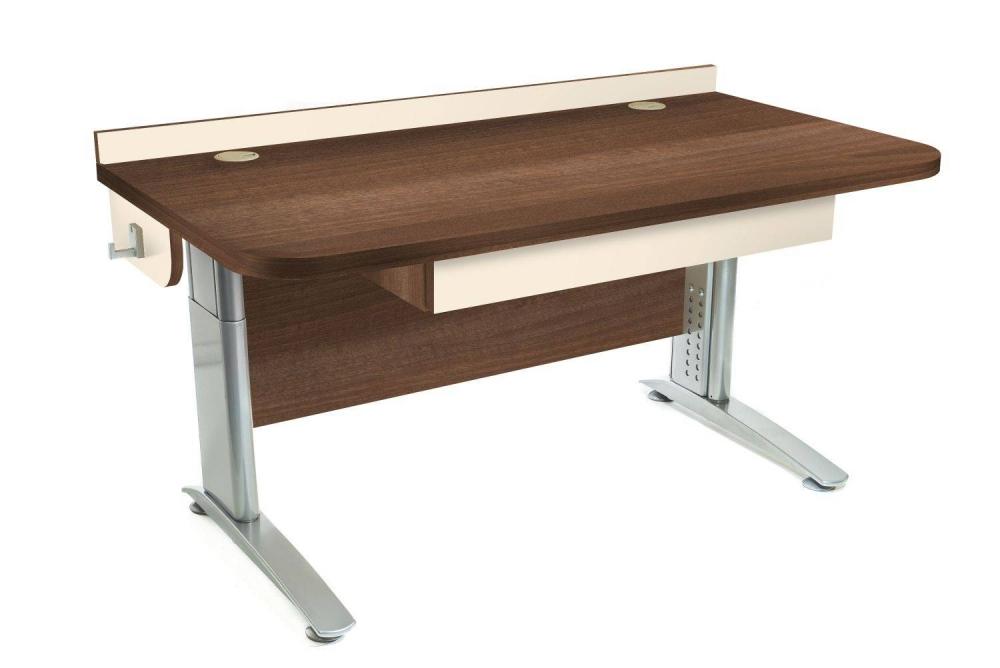 Stôl rastúci rovný │ orech Aida tabakový / béžová (crema)