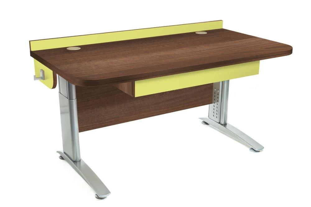 Stôl rastúci rovný │ orech Aida tabakový / zelené jablko