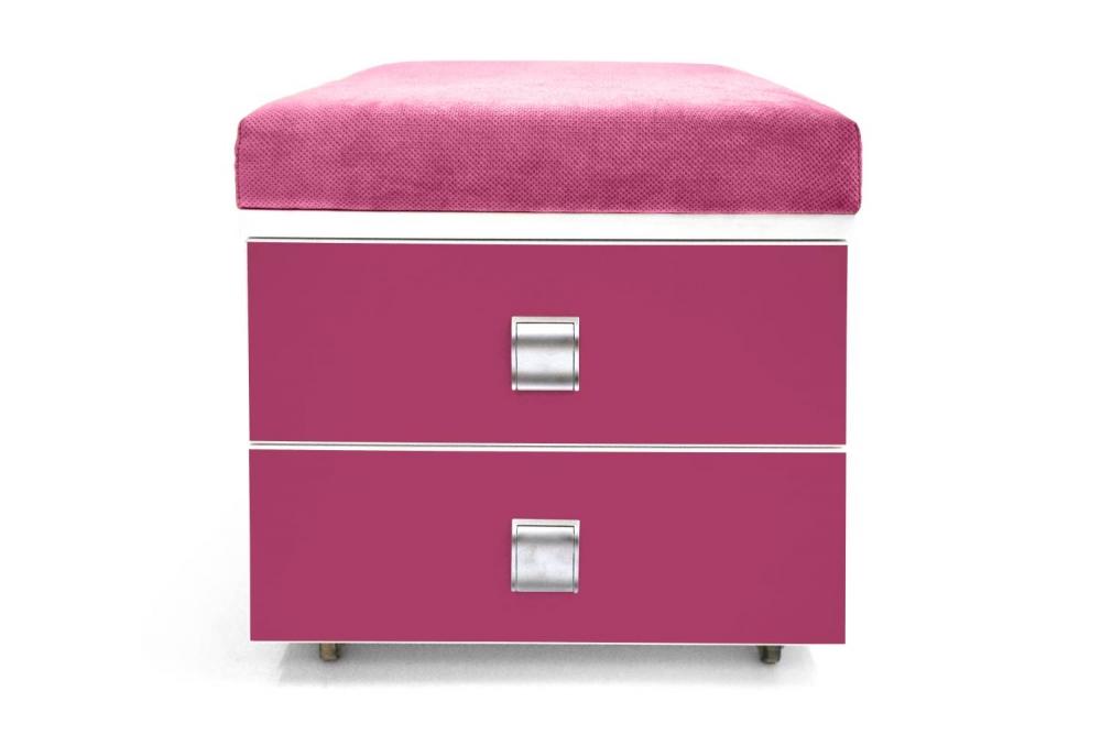 Kontajner KLEMINI │biela štandard / ružová malina/látka