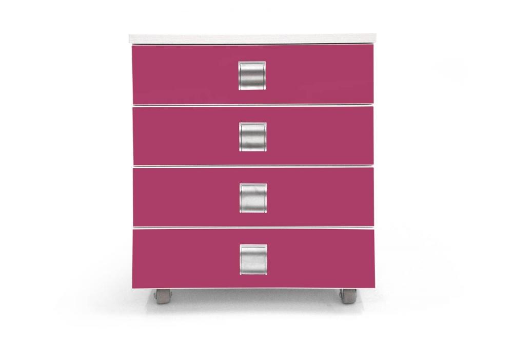 Kontajner PUPY │ biela štandard / ružová malina