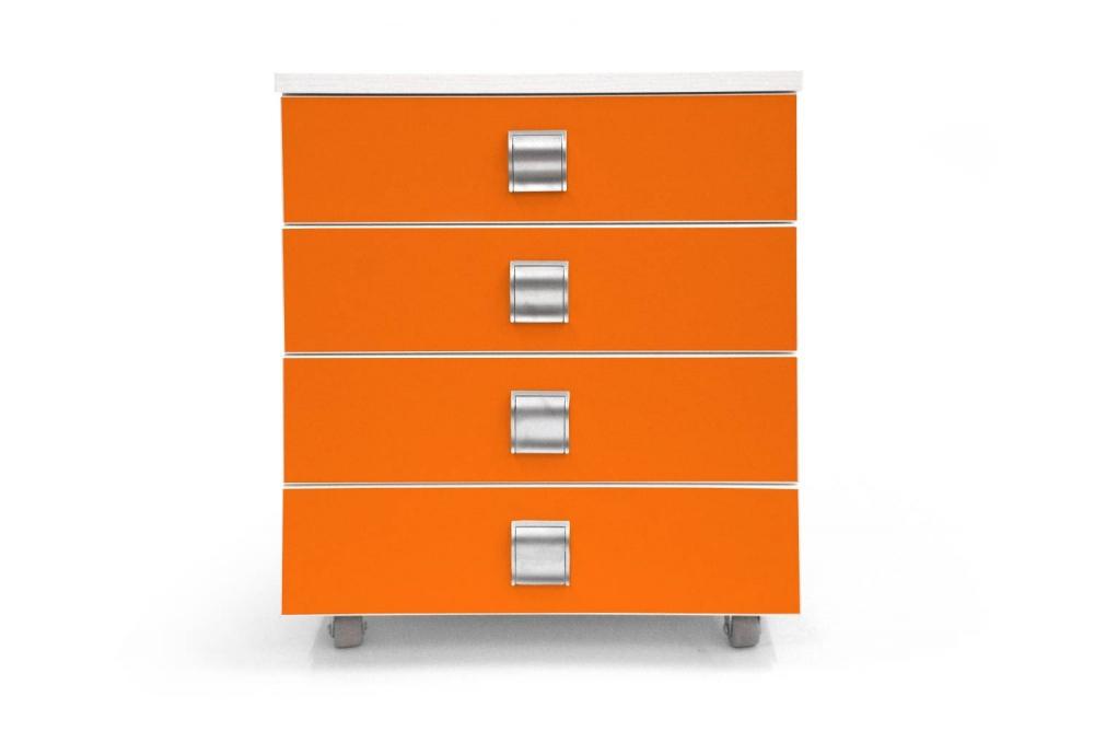 Kontajner PUPY │ biela štandard / oranžová