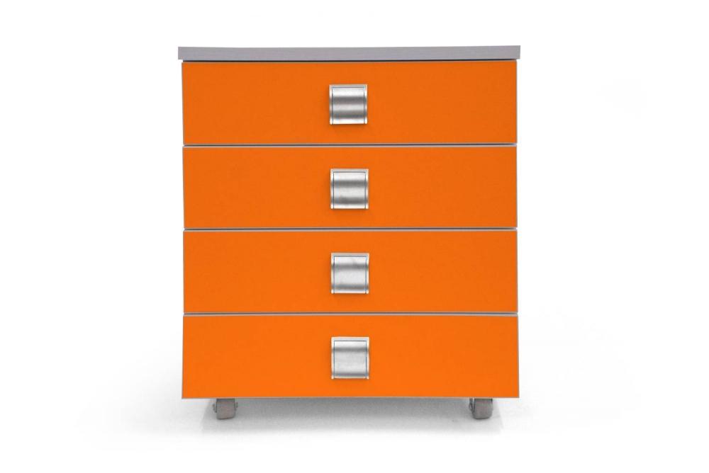 Kontajner PUPY │ šedá perlička / oranžová