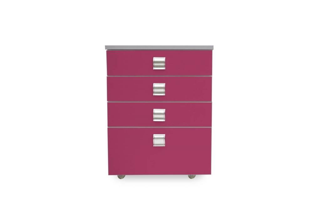 Kontajner IGIMAX │ šedá perlička / ružová malina