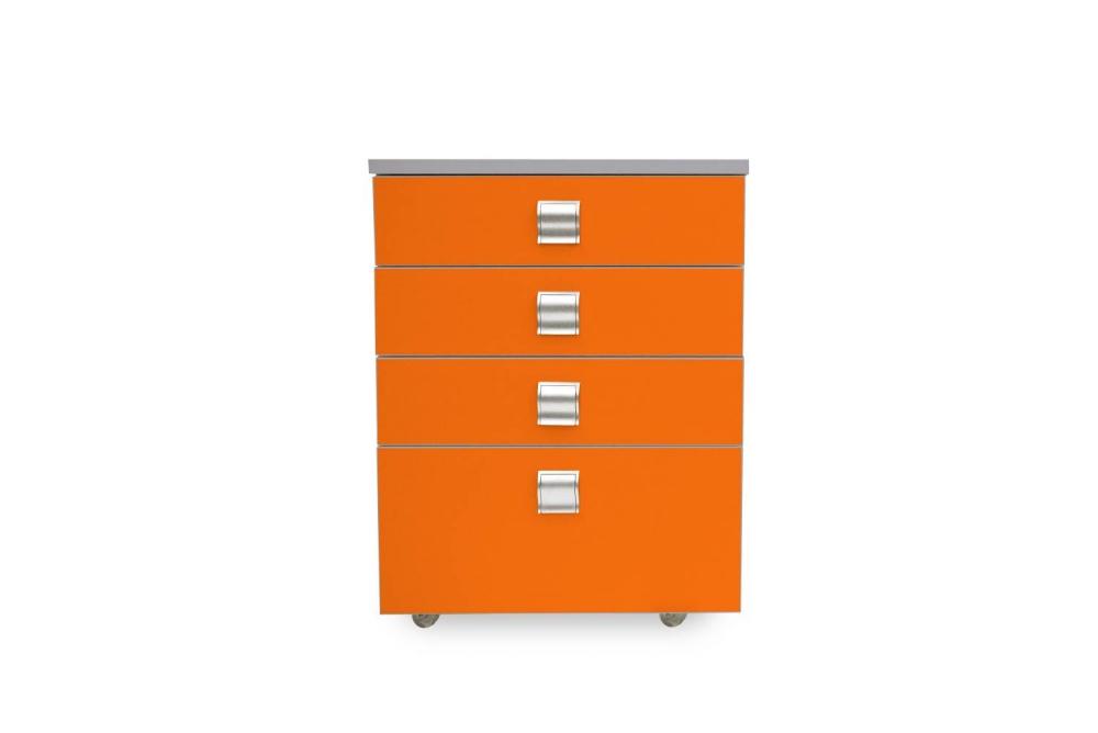 Kontajner IGIMAX │ šedá perlička / oranžová