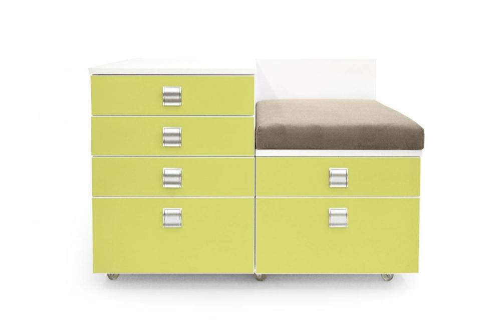 Kontajner IGIMAX DOUBLE │ biela štandard / zelené jablko/látka