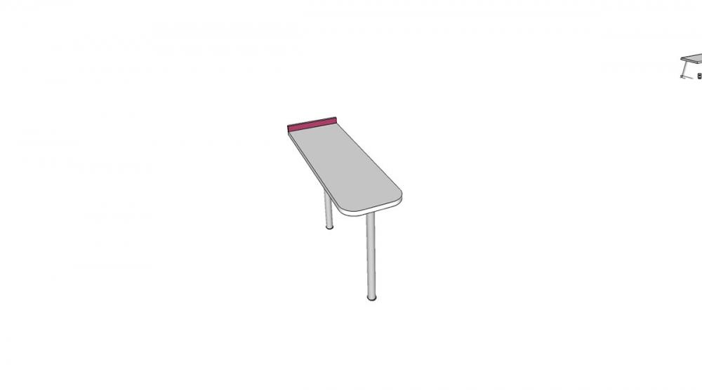 Prístavba H2C │ biela štandard / ružová malina