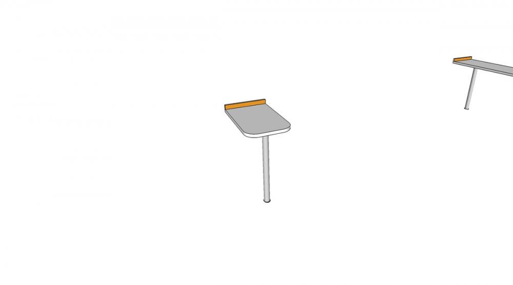 Prístavba H1C │ biela štandard / oranžová