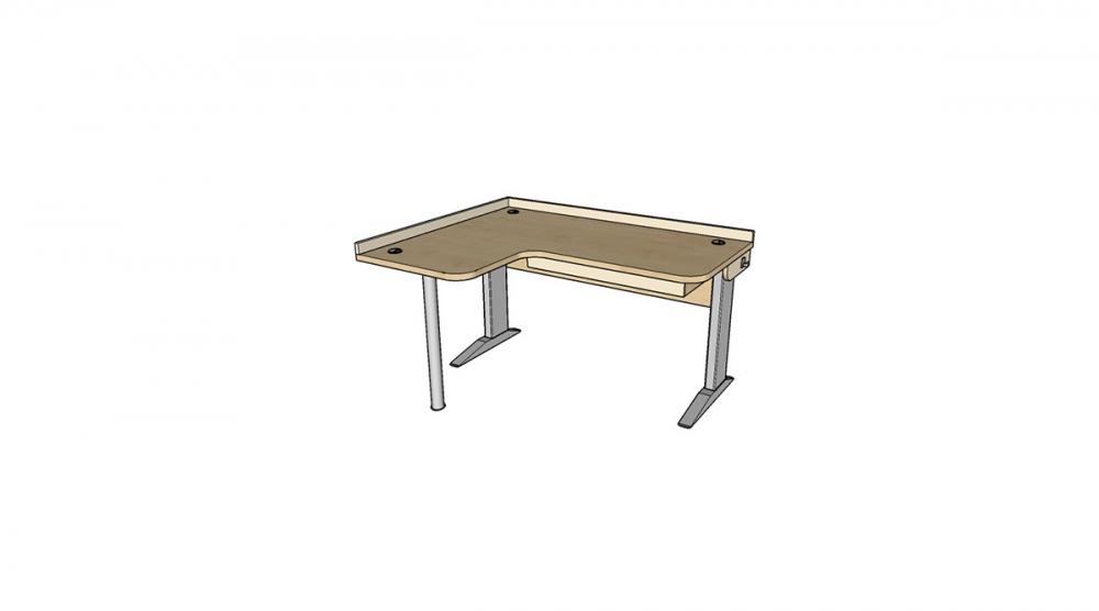 Stôl rastúci rohový ľavý │ javor prírodný / béžová (crema)