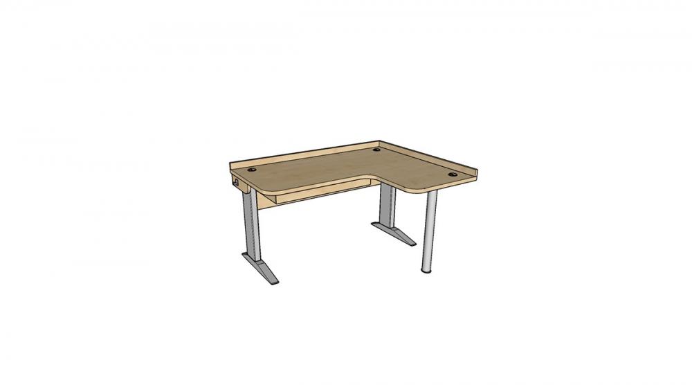 Stôl rastúci rohový pravý │ javor prírodný / javor prírodný