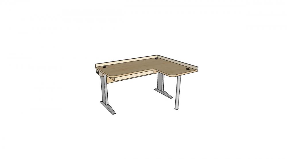 Stôl rastúci rohový pravý │javor prírodný / béžová (crema)