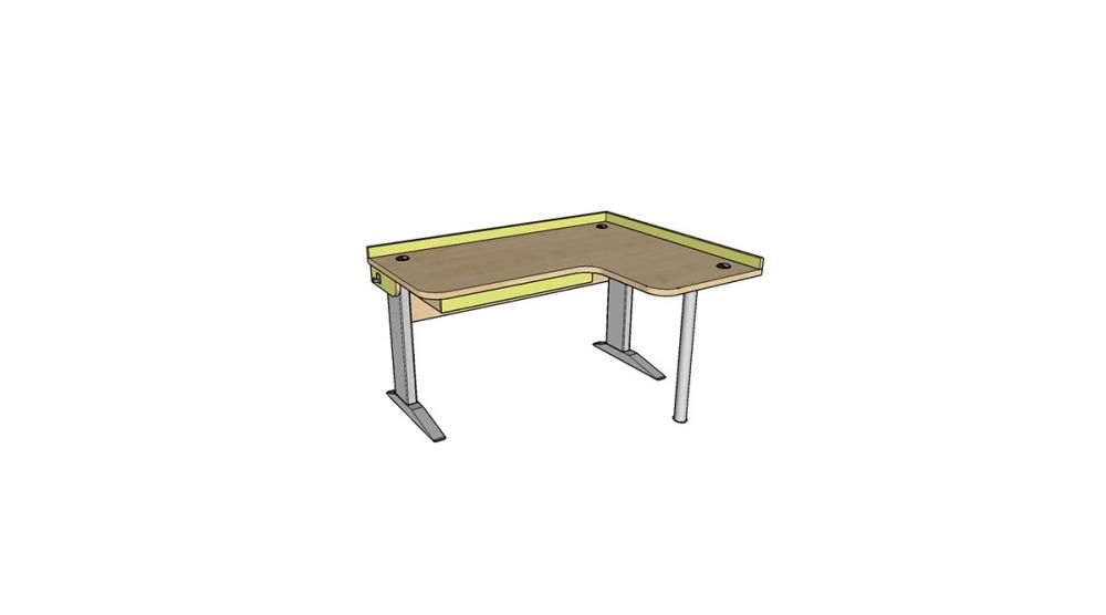 Stôl rastúci rohový pravý │javor prírodný / zelené jablko