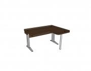 Stôl rastúci rohový pravý │ orech Aida tabakový ...